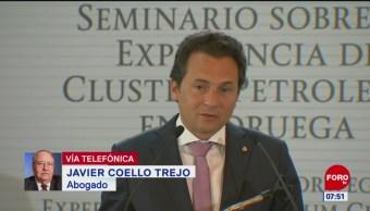 Mi función como abogado es proteger a Emilio Lozoya, dice abogado Javier Coello