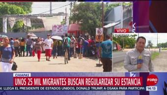 FOTO: Migrantes buscan regularizar su estancia en el país