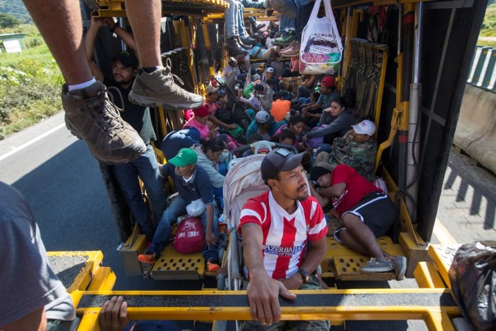 Foto: Migrantes centroamericanos en Córdoba, Veracruz, 5 de noviembre de 2018, Veracruz