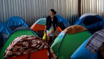 Foto: Migrantes centroamericanos en un albergue en Tijuana, 12 de abril de 2019, México