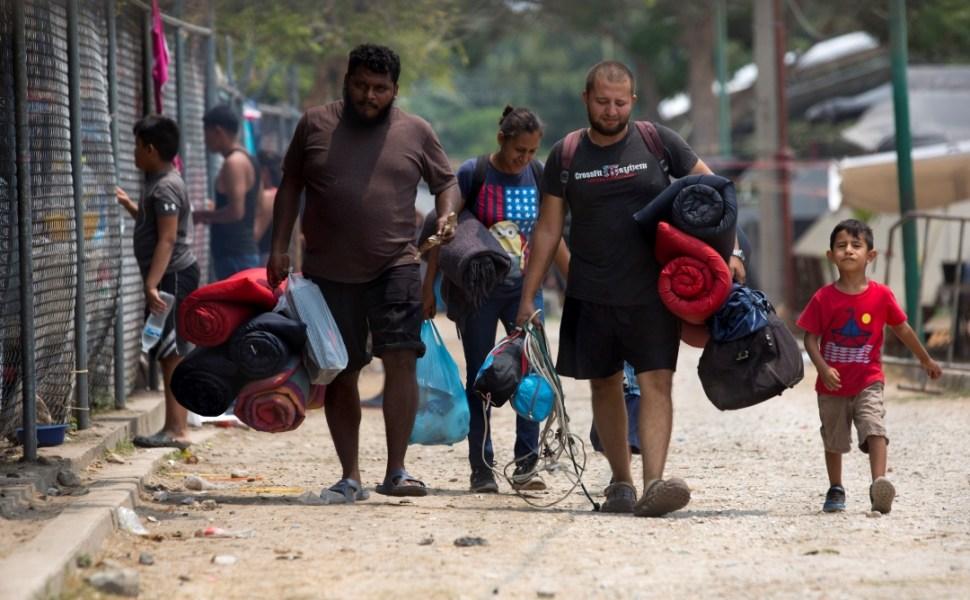 Foto: Migrantes hondureños en Chiapas, México, 28 de abril de 2019, México
