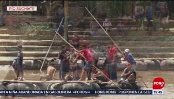 Foto: Migrantes Ingresan México Balsas Río Suchiate 13 Junio 2019