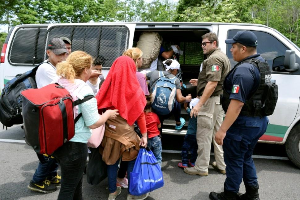 Foto: Migrantes son detenidos en Chiapas, 6 de junio de 2019, México