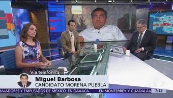 Miguel Barbosa habla sobre su triunfo en Puebla