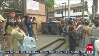 Movilización policiaca en escuela CDMX por amenaza de bomba