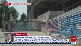 Muere albañil al caer de edificio en construcción, en Coyoacán, CDMX