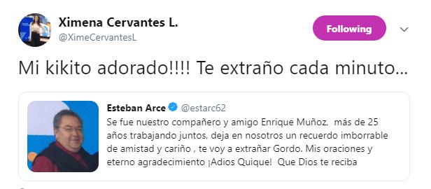 IMAGEN Muere Enrique Muñoz, colaborador de Matutino Express (@XimeCervantesL)