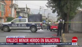FOTO: Muere niño tras tiroteo en Nezahualcóyotl, Edomex
