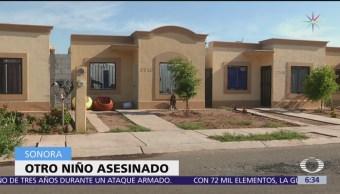Muere un niño en ataque armado en Sonora