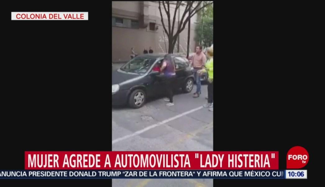 FOTO: Mujer agrede a automovilista en la CDMX y la nombran 'Lady Histeria', 16 Junio 2019