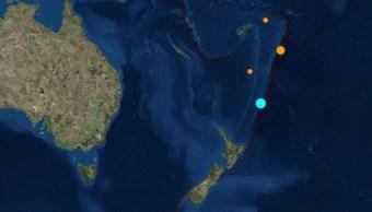 Foto: Un sismo de magnitud 7.4 remeció Nueva Zelanda, autoridades descartaron alguna amenaza por tsunami y no hay reporte de daños o víctimas, junio 15 de 2019 (Imagen: USGS)