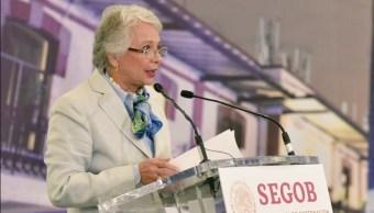 Imagen: La secretaria de Gobernación, Olga Sánchez Cordero, señala que México debe tener una migración ordenada, 9 de junio de 2019 (Twitter @M_OlgaSCordero)