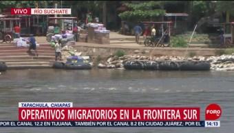 FOTO: Operativos en la frontera sur de México