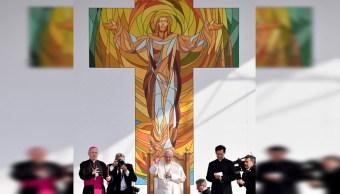 El papa Francisco durante su visita en Rumania, 1 JUNIO 2019