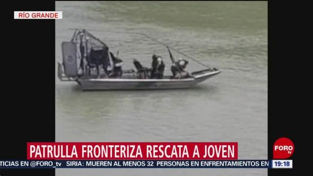 Foto: Patrulla Fronteriza Rescata Migrante Río Bravo28 Junio 2019