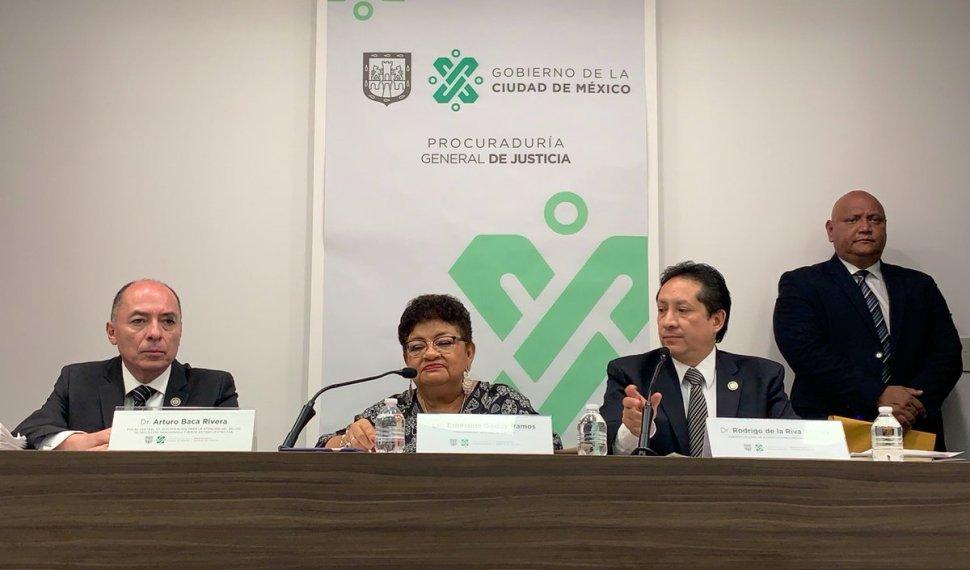 Foto: PGJCDMX da informes sobre la investigación del secuestro 10 junio 2019