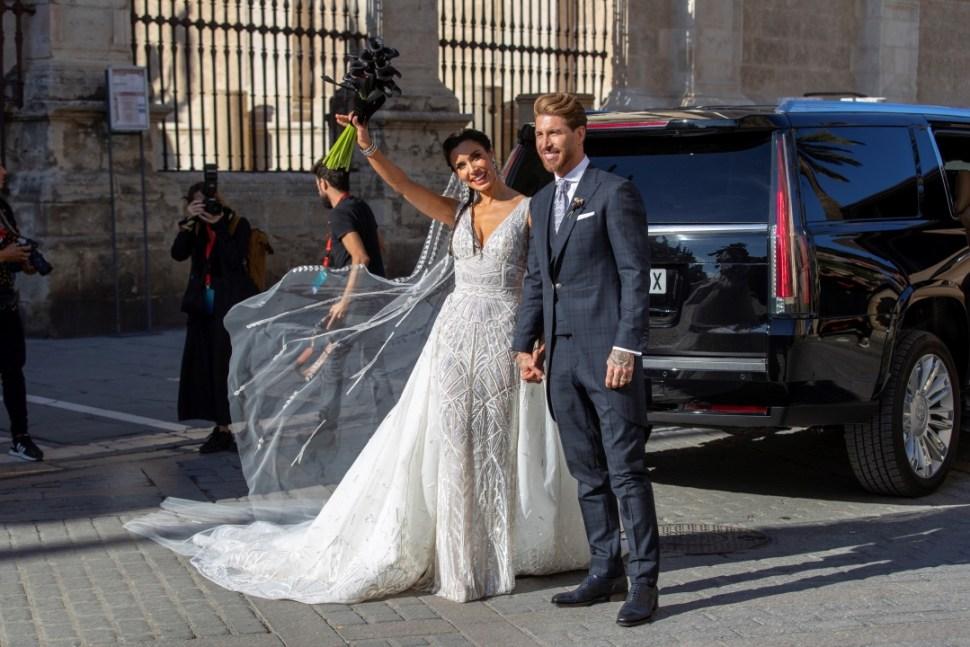 Foto: La presentadora Pilar Rubio y el futbolista Sergio Ramos se casaron este sábado, 15 junio 2019
