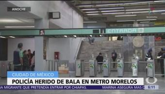 Policía herido de bala en Metro Morelos, CDMX