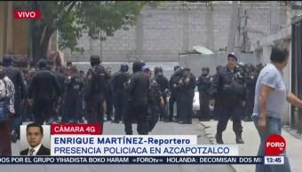 FOTO: Presencia policíaca en Azcapotzalco