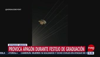 FOTO: Provoca apagón durante festejo de graduación en Texas