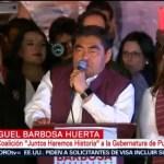 FOTO: Puebla celebra a Luis Miguel Barbosa, candidato de Morena, 2 Junio 2019