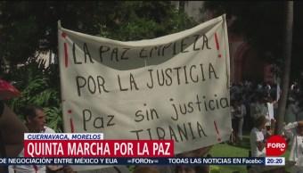 FOTO: Quinta marcha por la paz en Cuernavaca, Morelos, 1 Junio 2019