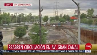 Foto: Reabren Circulación Desbordamiento Gran Canal CDMx 24 Junio 2019