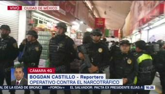FOTO: Realizan operativo policiaco en Central de Abastos, CDMX