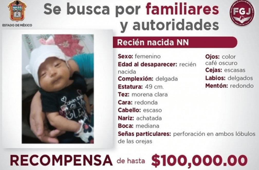IMAGEN Localizan a bebé recién nacida robada en Naucalpan (Fiscalía Edomex junio 019)