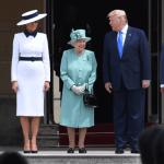FOTO Reina Isabel II recibe a Trump en Palacio de Buckingham (EFE 3 junio 2019 londres)