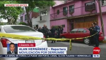 FOTO: Reportan derrumbe de casa en la alcaldía GAM