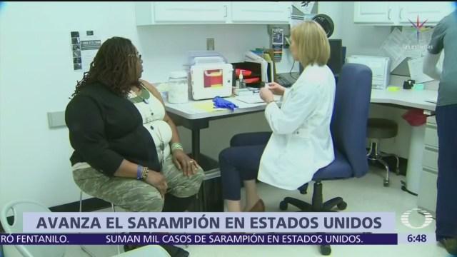Reportan más de mil casos de sarampión en Estados Unidos