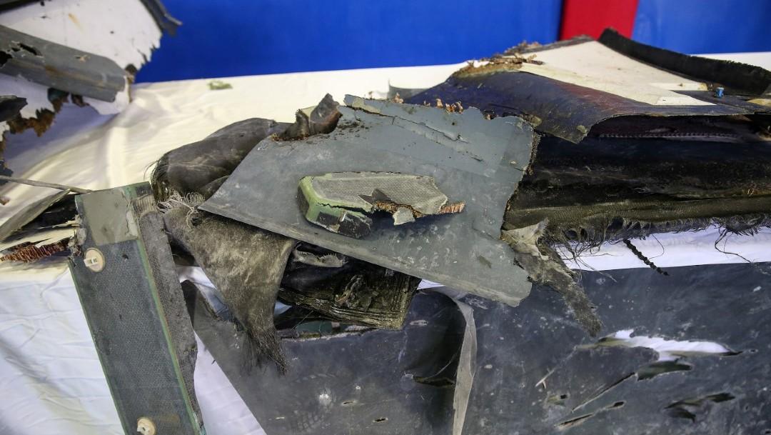 Foto: Restos de dron de EU derribado en Irán, 22 junio 2019