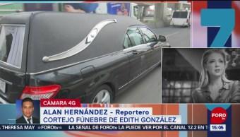 FOTO: Restos de Edith Gonzáles son trasladados a Naucalpan