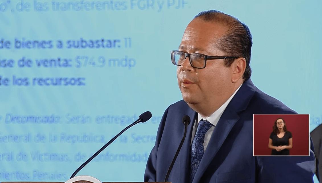 Foto: Ricardo Rodríguez, titular del Instituto para Devolverle al Pueblo lo Robado, 17 de junio de 2019, Ciudad de México