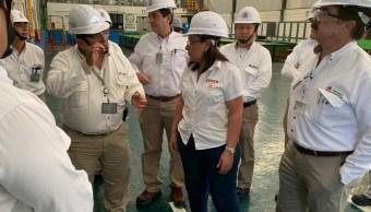 Foto: Rocío Nahle, secretaria de Energía, 20 de junio 2019. Twitter @rocionahle