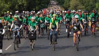 Rodada ciclista rompe récord de asistencia en Ciudad de México