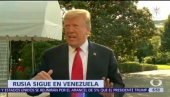 Rusia desmiente a Donald Trump sobre Venezuela