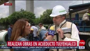 FOTO: Sacmex realiza mantenimiento en acueducto Tulyehualco