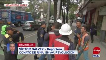 Se registra conato de riña en Av. Revolución, CDMX
