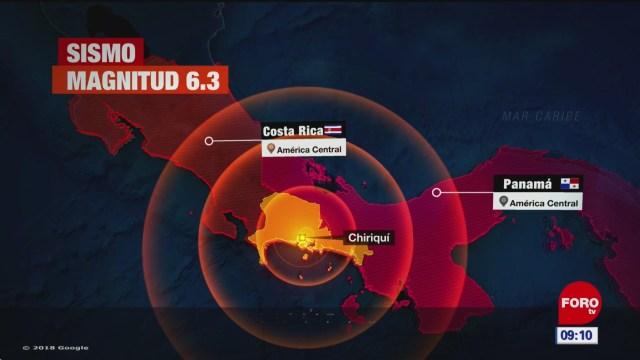 Se registra sismo entre Panamá y Costa Rica