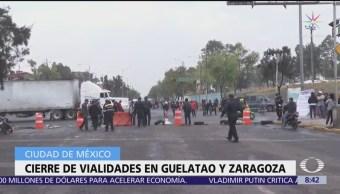 Se registran bloqueos en Iztapalapa; comerciantes tapan Guelatao y Eje 6