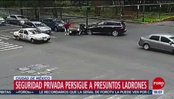Foto: Seguridad privada persigue a presuntos ladrones
