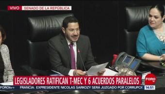 Foto: Senado ratifica el T-MEC y acuerdos paralelos