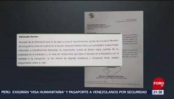 Foto: Senado Uif Información Ministro Medina Mora 6 Junio 2019