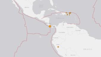 Foto: Mapa sobre sismo en frontera entre Panamá y Costa Rica,26 de junio de 2019,