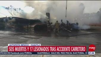 Foto: Muertos Heridos Tráiler Incendiado Cuautla Morelos 12 Junio 2019