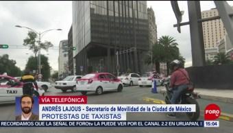 FOTO: Taxistas y servicio de apps deben cumplir con requisitos: Andrés Lajous