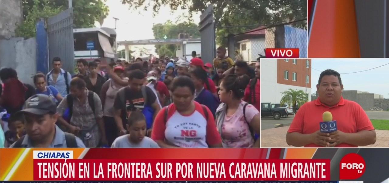 Foto:Tensión en la frontera sur por caravana migrante