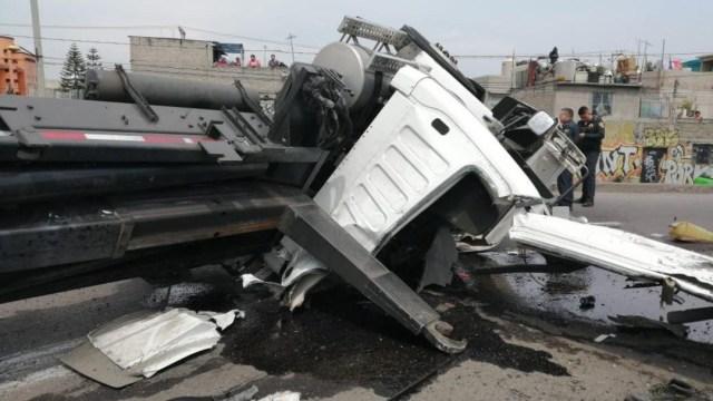 Foto: El accidente se registró a la altura de la avenida Chimalhuacán, al oriente de la Ciudad de México, el 22 de junio de 2019 (Noticieros Televisa, especial)